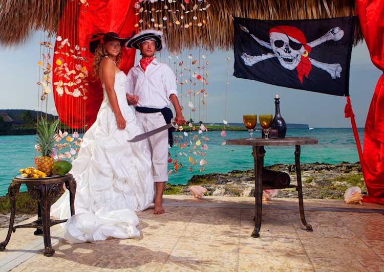 Организация пиратской свадьбы на берегу