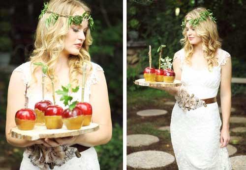 Образ невесты на яблочной свадьбе