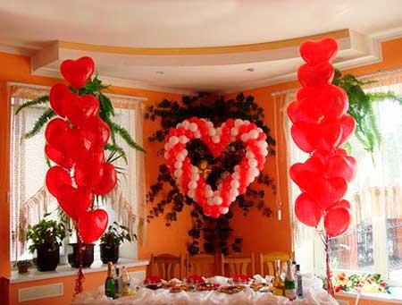 Как красиво оформить шариками дом на свадьбе