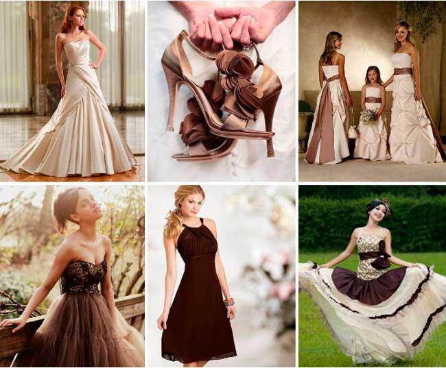 Платье на шоколадную свадьбу