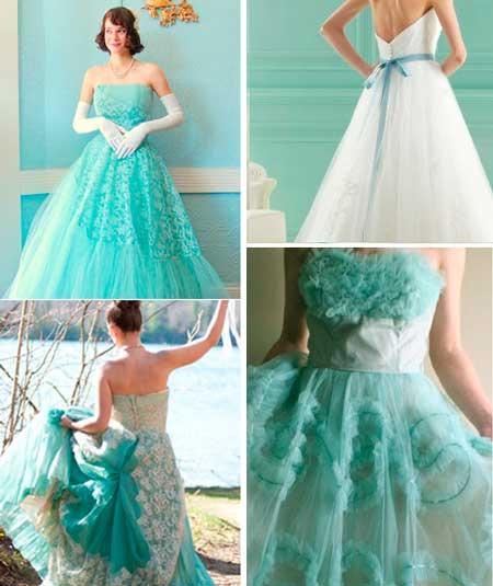 Платье невесты в стиле Тиффани