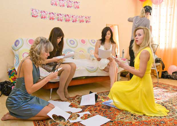 Подготовка к свадьбе в стиле пазлов