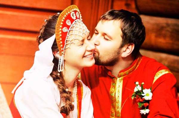 Русский жених и невеста