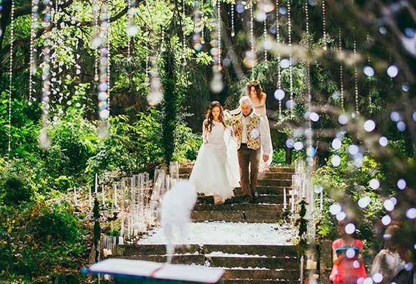 Свадьба эльфов в лесу