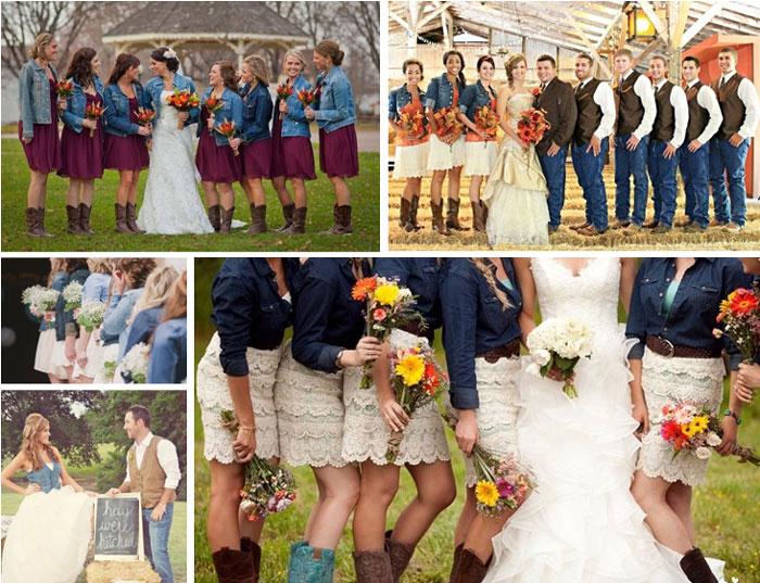 Джинсовая свадьба для молодожен