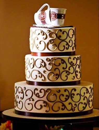 Торт на кофейную свадьбу