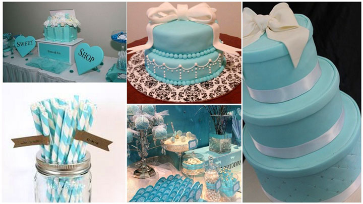 Торт на свадьбу в стиле Тиффани