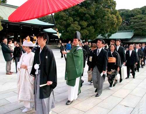 Японская свадебная церемония