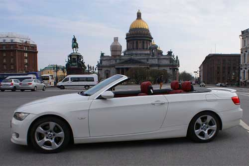 Белый кабриолет на свадьбу