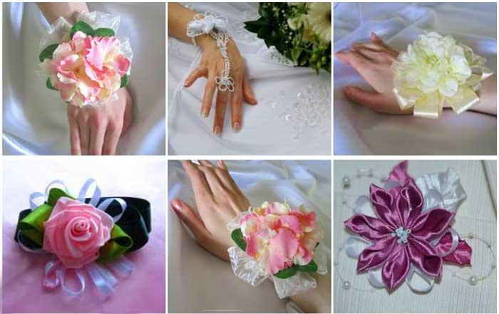 Цветки и свадебный браслет