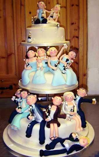 Торт на свадебный вечер