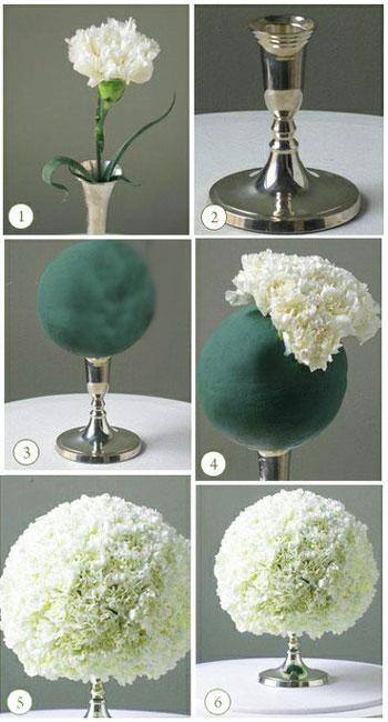 Цветы на стол- декор