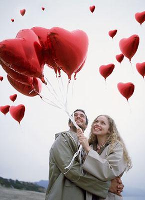 Глянцевые шары на 14 февраля