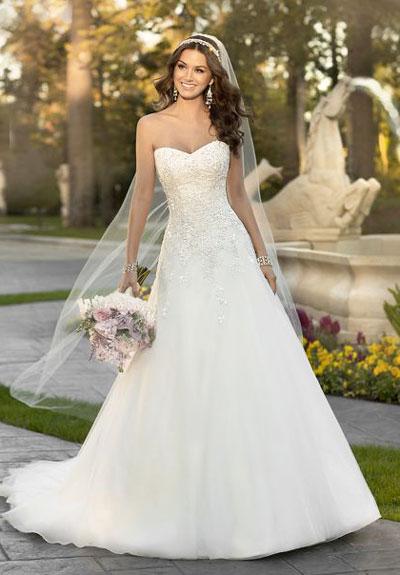 Классическое белое платье невесты