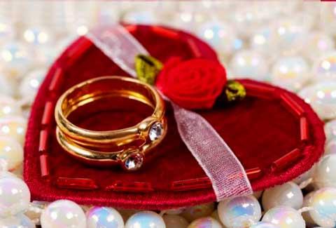 Сердца на свадьбе