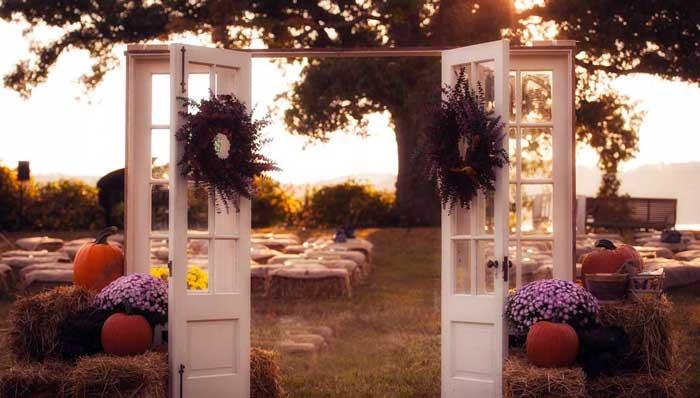 свадьба на отскрытом воздухе