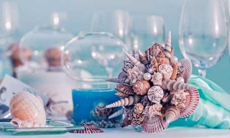 оформление-стола-на-морской-свадьбе
