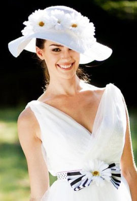 Свадебное платье в стиле ромашки