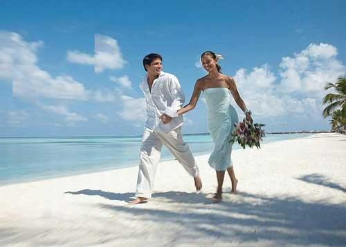 романтика морской свадьбы