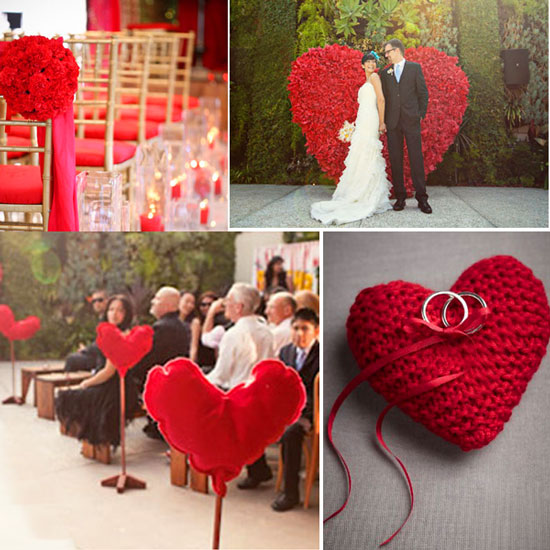 Стиль дня влюбленных на свадьбе