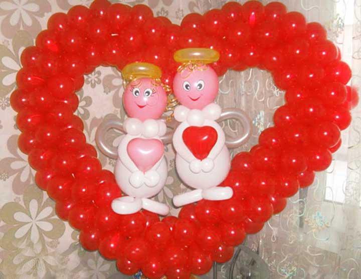 Шарики и день святого валентина