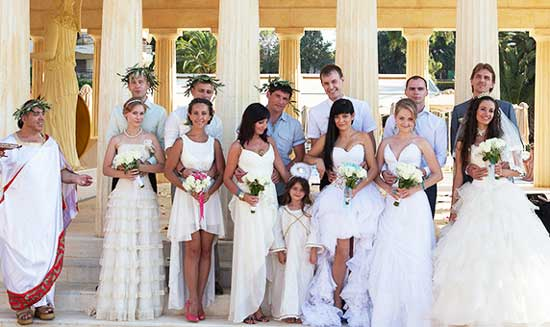 Собрание греков на свадебном торжестве
