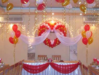 Свадебные шары и украшение зала