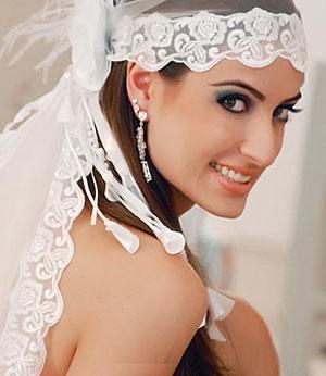 Свадебная фата невесты