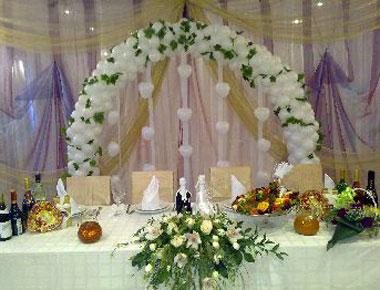 Ткани и занавески на свадьбе
