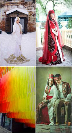 Цветовая схема на татарской свадьбе