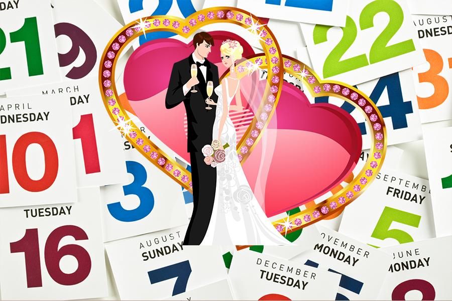 Выбор даты свадьбы по дате рождения
