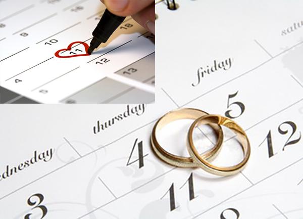 Планирование свадьбы, выбор даты