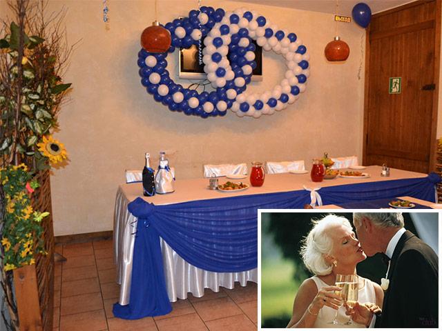 Празднование сапфировой свадьбы
