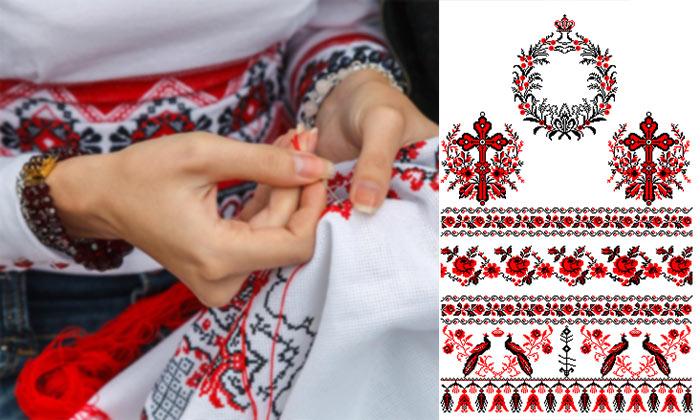 Свадебный рушник - вышивка