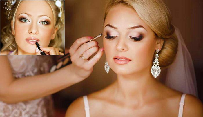 единый образ для свадебного макияжа