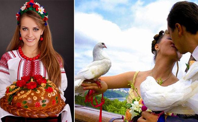 каравай и голуби на свадьбу