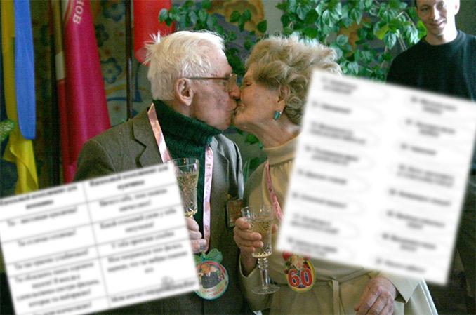 Конкурсы на бриллиантовую свадьбу