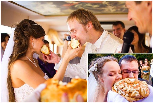 Обряд со свадебным караваем