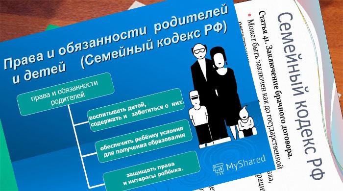 Права и обязанности детей и супругов