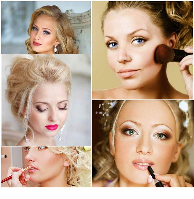 свадебный макияж помада и румяна
