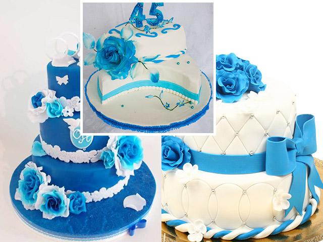 Торт на сапфировую свадьбу