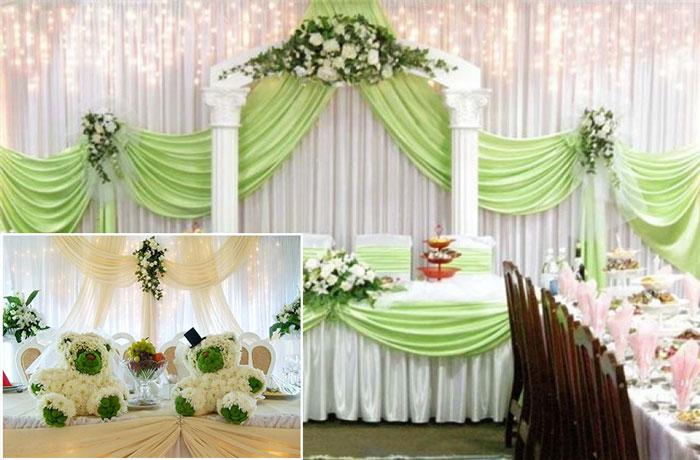 Цвет и цветы при оформлении свадьбы