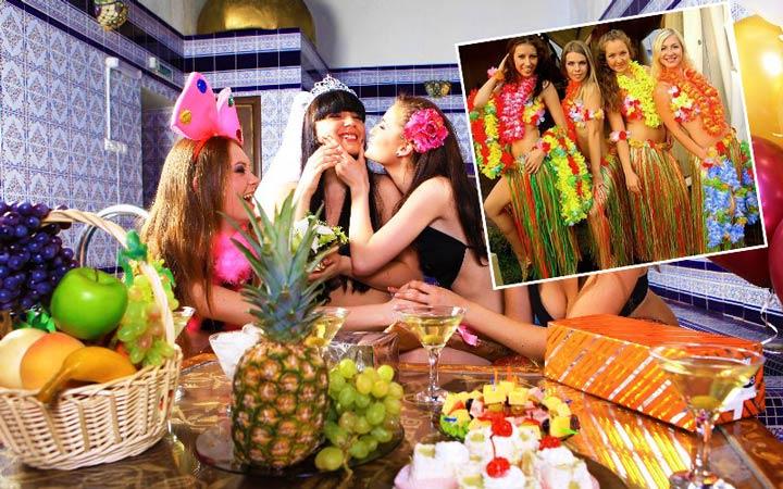 Гавайский девичник в сауне
