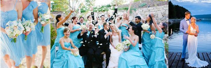 Голубые оттенки на свадьбе