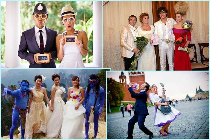 Креативные образы жениха и невесты