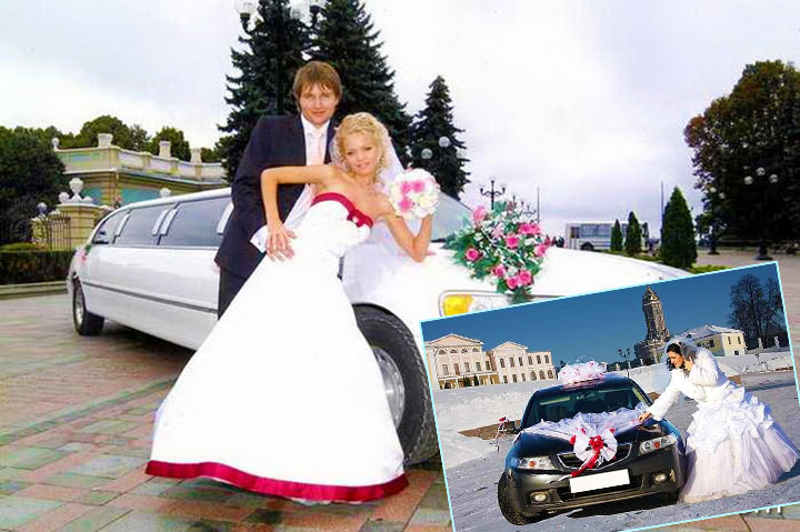 Принципы украшения автомобиля на свадьбу