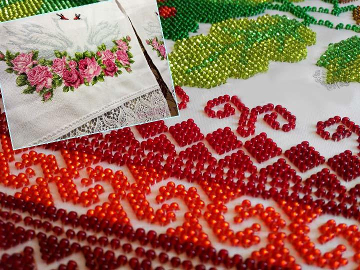 Варианты вышивки свадебного рушника
