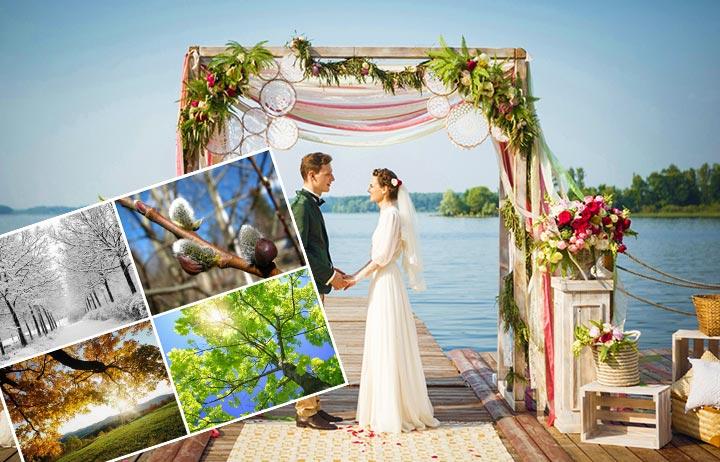 Выбор времени года для свадьбы