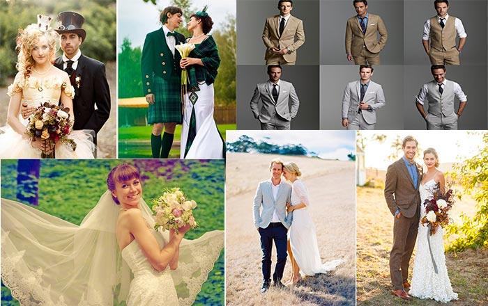 Выбор образа жениха и невесты