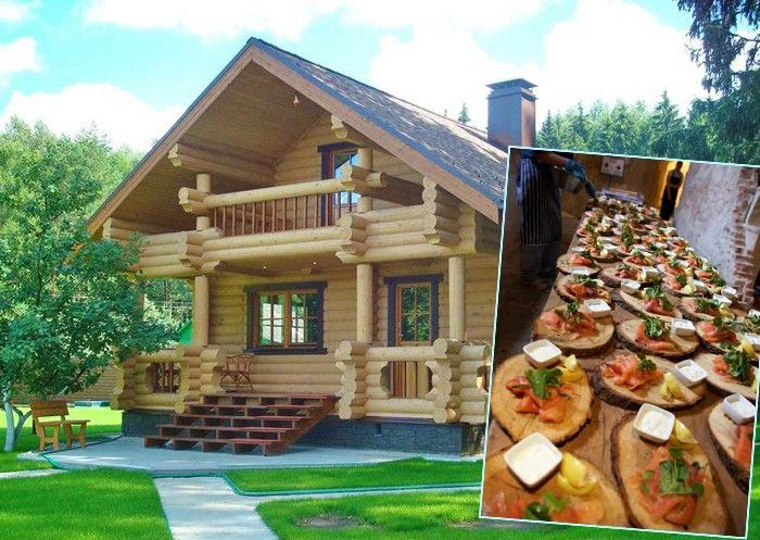 Деревянная свадьба дома